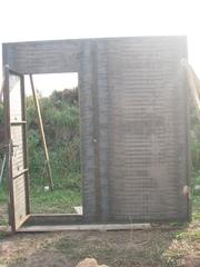 Ворота гаражные 2.5-2.5 с калиткой
